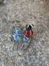 Cows Glass Handmade Borosilicate Lampwork Art Heart Ladybug Pendant