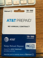AT&T Prepaid wireless service reuse card