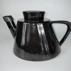 Vintage Ikea Varme All Black teapot Modernist Style