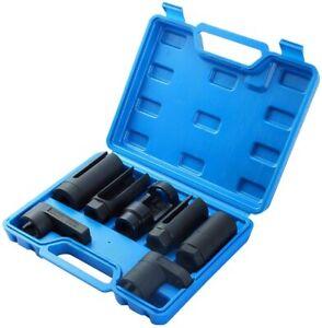 7PC O2 Sensor Socket Kit Auto Oil Pressure Sending Unit Master Wrench Tool Set