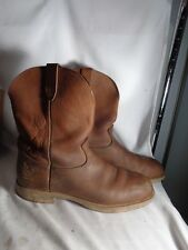 Georgia Comfort Core Brown Leather Work Boots, Mens 13M