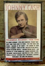 JOHNNY CASH COLUMBIA RECORDS 1958-1986 CASSETTE Free Shipping In Canada