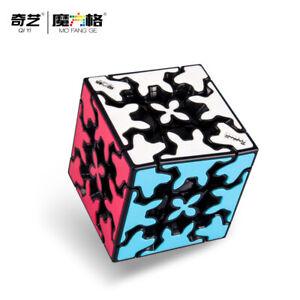 QiYi Gear Cube 3x3 Mofangge Speed Magic Cube Puzzle Toy Black 5.7cm