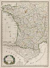 1812, Mapa antigua Empire francés bajo Napoleón. Malta-marrón Lapie & Poirson
