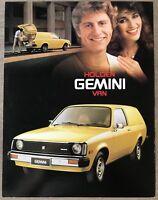 1980 Holden Gemini Van original Australian sales brochure (2P)