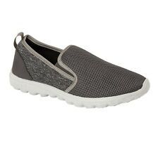 Mens Slip On Walking Casual Fitness Running Gym Get Fit Go Trainers Shoes Size