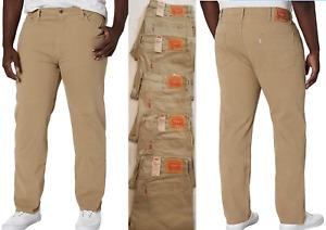 Levis 502 Big&Tall Regular Tapered Fit Mens Stretch Jeans 38,40,42,44,46,48#0048