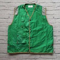 Vintage US NAVY USN Life Preserver Vest Type MARK 1 1986 80s Green