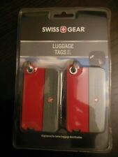 Swiss Gear *   Luggage - ID - Tags ** Red / Grey ** Free  Shipping