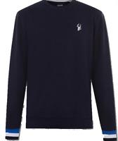 JACK WILLS Fitzsimmons Pique Sweatshirt Mens Navy Size UK M *REF31