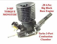 3HP 1/8 .28 Nitro TURBO RC Engine for 1/8 Monster Truck Truggy Buggy Car 4wd 2wd