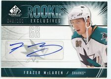 09/10 SP GAME-USED ROOKIE EXCLUSIVES AUTOGRAPH AUTO FRAZER MCLAREN /100 *34626