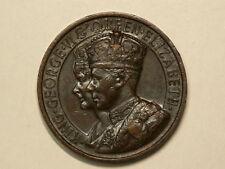 🍁 1937 Crowed King George VI Bronze Medal 45mm 50.1g  #G9457