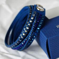 swarovski originale slake bracciale donna blu 5100097 nuovo bracelet authentique
