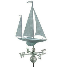 Good Directions Yawl Weathervane - Blue Verde Copper 9907Sv1