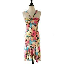 $595 Yigal Azrouel size 2 XS Floral Silk Jersey Flounce Dress