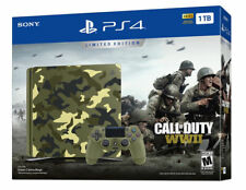 PlayStation 4 Slim 1TB Limited Edition - PS4 Call of Duty WWII WW2 Bundle NEW