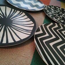 New 4 Marimekko x Target XXO 20th Melamine Salad Plate Set Black/White