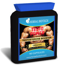 HerbalBioTech Testo Power Testosterone Booster Vegetable Capsules No Fillers