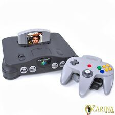 Nintendo 64 N64 Retro Juego Consola Controlador Paquete C / Goldeneye 007 Inglaterra PAL