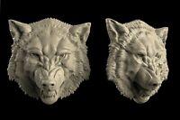 3D STL Model WOLF'S HEAD for CNC Aspire Artcam 3D Printer Router Engraver Cut 3D
