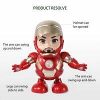 Iron Man Figure Dancing Robot LED Flashlight & Music Sound