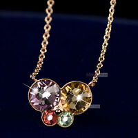 18k rose gold made with SWAROVSKI crystal butterfly pendant necklace
