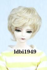 "1/4 7-8"" LUTS DD SD BJD Doll Dollfie Wig Short Blonde Hair 59"