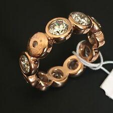 NWT Michael Kors MKJ4787 Rose Gold Cubic Zirconia Circle Band Ring Size 6