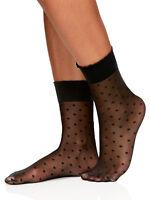 Berkshire Women's Plus Size Scalloped Sheer Dot Anklet Socks (Shoe Size 9 to 12)
