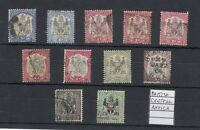 British Central Africa Nyasaland 1901 Collection Of 12 To 1/- Fine Used J9953