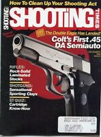 SHOOTING TIMES Magazine December 1989 Colt's First .45 DA Semiauto