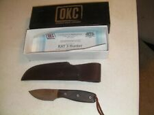 New listing New Ontario Knife Rat 3 Limited Edition D2 Knife With Leather Sheath Free S&H