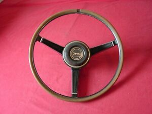 1967 Mercury Cougar Steering Wheel Simulated Wood Rim Black Center See Condition