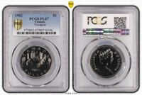 1982 PL67 CANADA ONE DOLLAR $1 VOYAGEUR PCGS GRADED PROOF LIKE FDC UNC
