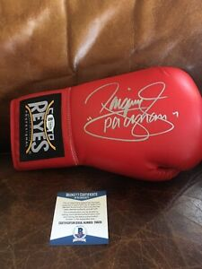 """Manny """"Pacman"""" Pacquiao Signed Autogrpahed Cleto Reyes Boxing Glove  BAS#Y96291"""