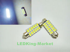 2x Bright White 12s SMD LED Festoon 41mm 42mm INTERIOR Dome Light 239 272 C5W
