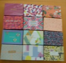 Lot of 12 Empty Birch Boxes Crafts Storage