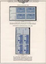 New ListingUnited States Plate Blocks #1185, 1186, mint, see notes below, 1961