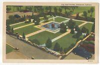 City Hall Garden, HAMMOND IN Vintage 1947 Indiana Postcard