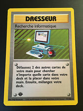 Pokemon Card Research Computing 71/102 Rare Edition 1 French New