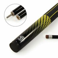 Jonny 8 Ball YELLOW ORB Genuine Black Graphite 2pc Pool Snooker Cue - 9mm Tip