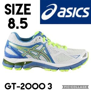 Asics Womens Shoes GT-2000 3 Running T550N-0193 White Lightning Blue US8.5 EU40