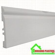 PVC elude bordo plastica bianca 140mm x 2,9 metri di lunghezza