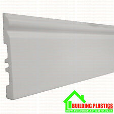 PVC Skirting Board White Plastic 140mm x  2.9 Metres Long