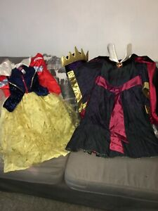 Disney Store Evil Queen Costume & Snow White Costume Dressing Up Age 5-6 years
