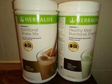 Herbalife - 2x  Formula 1 shakes,Dutch Chocolate & Mint Chocolate flavour