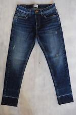 BLUE LAB Jumps Broken Skinny 7/8 Jeans used offener Saum Gr 34 W26-W27/L26 Neu