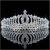 HOT SALE BRIDAL BRIDESMAID CRYSTAL CROWN TIARA GOOD HEADBAND WEDDING PARTY PROM
