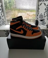 NIKE AIR JORDAN 1 MID (BLACK / ORANGE PEEL) Deadstock - Mens UK 10